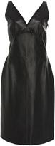 Loewe Sleeveless Leather Midi Dress
