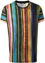 Balmain vertical stripe T-shirt - men - Cotton/Linen/Flax - L