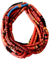One Kings Lane Vintage African Vinyl Trade Bead Necklaces, S/10