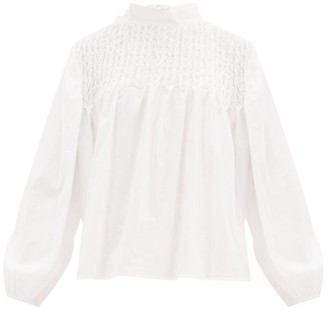 Merlette New York Paveley Tie-back Cotton-lawn Blouse - White