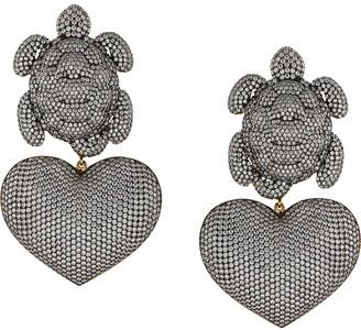 BEGÜM KHAN 24kt gold plated Turtle Mon Amour earrings