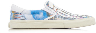 Amiri Printed Cotton-Blend Slip-On Sneakers