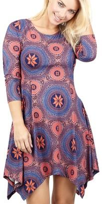 M&Co Izabel asymmetric hem tunic dress
