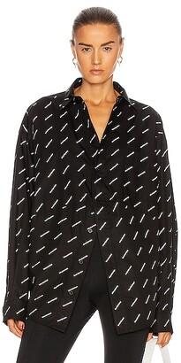 Balenciaga Swing Masculin Shirt in Black & White