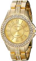XOXO Women's XO5465 Rhinestone Accent -Tone Analog Bracelet Watch