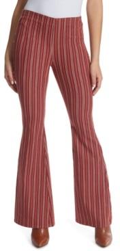 Ella Moss Striped Flared Jeans