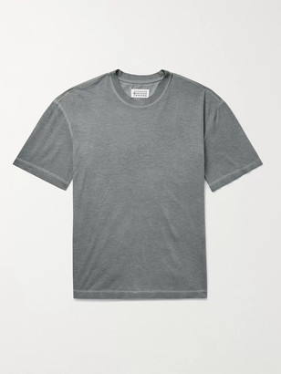 Maison Margiela Oversized Garment-Dyed Cotton-Jersey T-Shirt