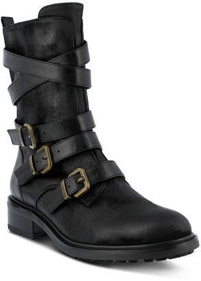 Azura Womens Calmon Flat Heel Combat Boots