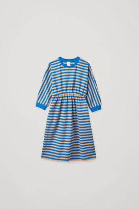 Cos Striped Cotton Jersey Dress