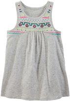 Osh Kosh Toddler Girl Embellished Puff-Print High-Low Tank