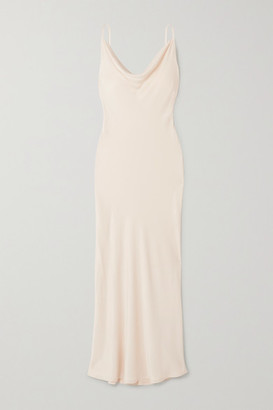Envelope1976 - Net Sustain Diaz Open-back Crepe De Chine Maxi Dress - Cream