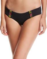 Tavik Bouquet Embroidered-Trim Swim Bikini Bottom