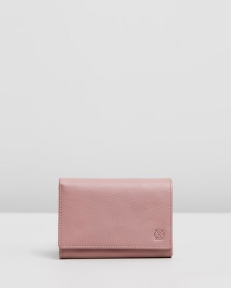 Stitch & Hide - Women's Pink Bifold - Ellie Wallet - Size One Size at The Iconic