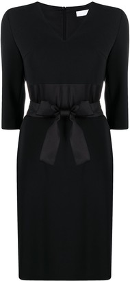 HUGO BOSS Belted-Waist Dress