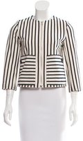 Derek Lam 10 Crosby Striped Knit Jacket