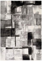Surya Pepin Modern Black, Medium Gray Area Rug, 2'x3'