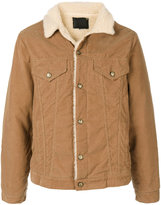 R 13 fur lined corduroy jacket