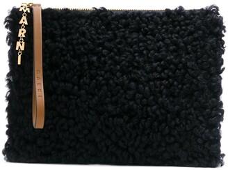 Marni Shearling Clutch Bag