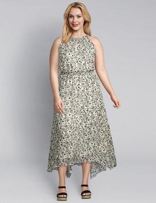 Lane Bryant Floral Halter-Style Midi Dress