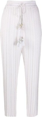 Christian Pellizzari Beaded Tapered Trousers
