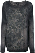 Avant Toi abstract pattern slim-fit jumper - women - Cashmere - S