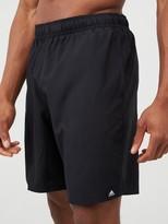 adidas 3 Stripe Swim Shorts - Black