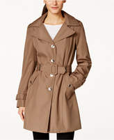 Calvin Klein Petite Hooded Single-Breasted Trench Coat, Created for Macy's