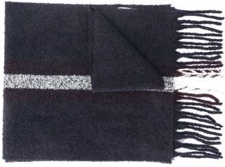 Eleventy Wide Stripe Knitted Scarf