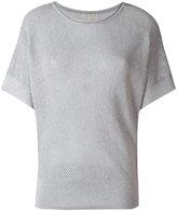 MICHAEL Michael Kors perforated sweatshirt - women - Cotton/Acrylic/Polyester/Metallic Fibre - L