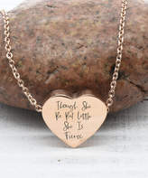 Pink Box Accessories Women's Necklaces Rose - Rose Goldtone 'She is Fierce' Heart Pendant Necklace