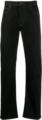 Emporio Armani High Rise Straight Leg Jeans