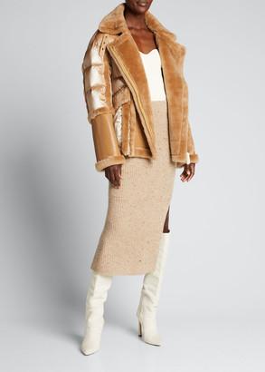 Nicole Benisti Garnier Shearling Puffer Jacket, Brown