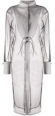 Alchemy Contrast Trimmed Sheer Dress