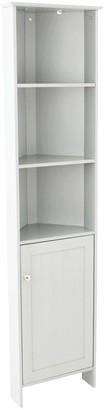 Lloyd Pascal Portland Tall Corner Bathroom Cabinet - White