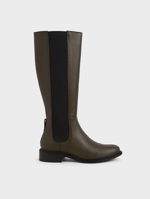 Charles & Keith Knee High Chelsea Boots