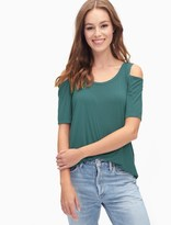 Splendid Rayon Jersey Cold Shoulder Tee