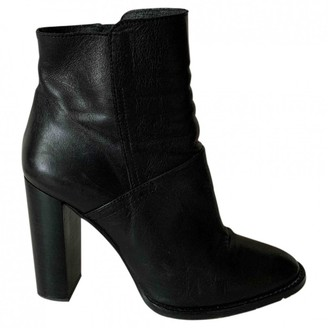 Buffalo David Bitton Black Leather Ankle boots
