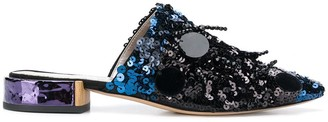 AGL Sequinned Slip-On Mules