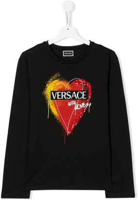 Versace TEEN heart logo T-shirt