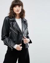 Weekday Biker Leather Jacket