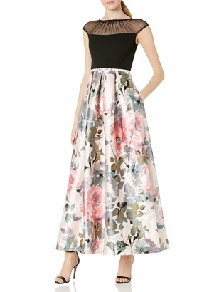Sangria Women's Floral Ballgown