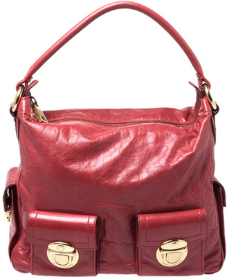 Marc Jacobs Red Leather Multi Pocket Shoulder Bag