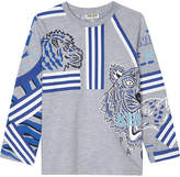Kenzo Striped tiger long-sleeved t-shirt 4-16 years
