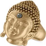 Rachel Roy Gold-Tone Pavé Buddha Ring