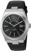Revue Thommen Urban - Lifestyle Men's Automatic Watch with Black Dial Analogue Display and Black Leather Strap 107.01.04