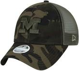 New Era Women's Camo Michigan Wolverines Trucker 9TWENTY Adjustable Hat