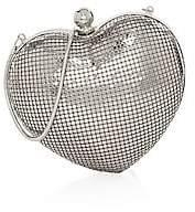 Whiting & Davis Women's Charity Heart Minaudiere
