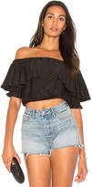 De Lacy Parker Top in Black. - size L (also in M,S,XS)