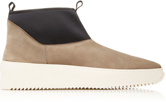 Fear Of God Polar Wolf Leather And Neoprene Boots