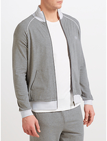 Hugo Boss Boss Contrast Detail Full Zip Lounge Jacket, Grey